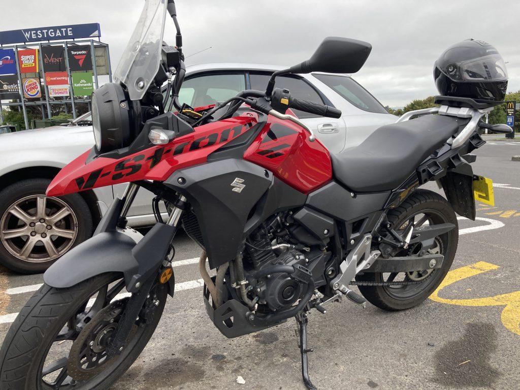 Suzuki 250cc V-Strom motorcycle